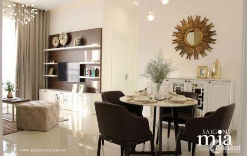 Bán căn Hộ cao cấp SaiGon Mia mặt tiền đường 9A, View sông, Tặng nội thất bếp
