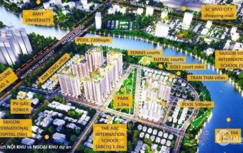Bán gấp căn 2PN Sunrise Riverside, DT: 70.45m2, giá 2,280 tỷ