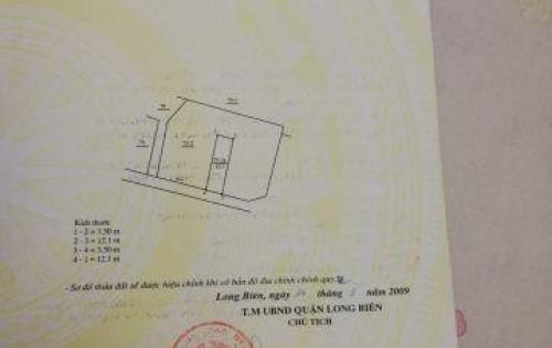 Cần bán nhà tổ 14 Thạch Bàn, Long Biên, 42m2,  1,35 tỷ.