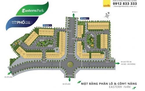Cơ hội đầu tư shophouse Estern Park khu đô thị Garden City Thạch Bàn, Long Biên