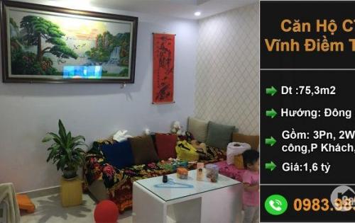 Căn hộ góc 3 phòng ngủ chung cư CT5 KĐT Vĩnh Điềm Trung Nha Trang