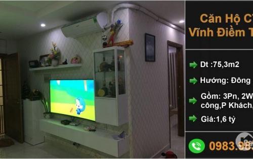 Căn hộ góc 3 phòng ngủ chung cư CT5 KĐT Vĩnh Điềm Trung Nha Trang - giá rẻ