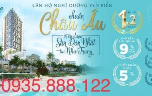 Căn hộ tiêu chuẩn 4 sao view biển trung tâm Nha Trang cơ hội đầu tư lợi nhuận cao