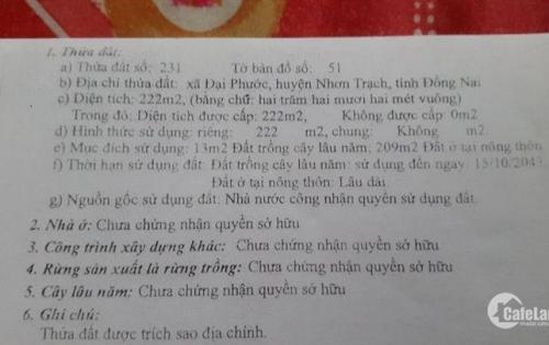 Cần bán nhà mặt tiền Nhơn Trạch Đồng Nai