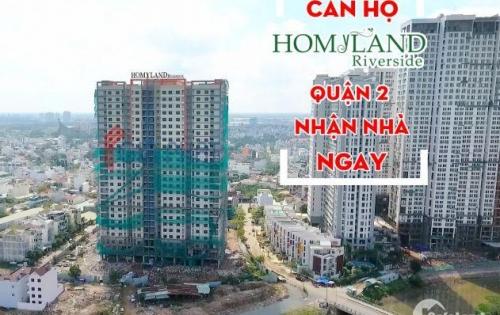 Căn hộ cc Homyland Riverside ở tt quận 2, 75m2, sắp nhận nhà, nội thất cao cấp, giá chỉ 2.5 tỷ.
