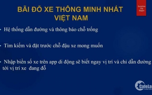 Sunshine City Saigon quận 7- CK 13% - Đại lý F1- Chủ đầu tư Sunshine Group