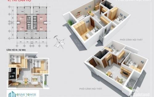 Căn Osimi 53m2, tầng 6, View ngoài giá 1.6 tỷ