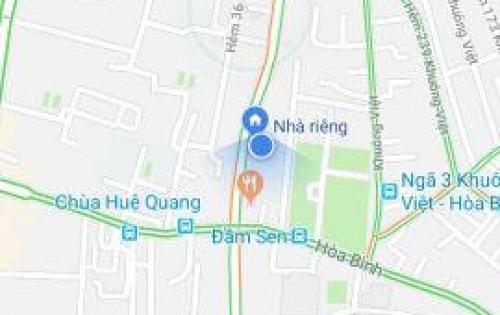 Bán nhà 3.5 tấm, gần Đầm Sen q. Tân Phú, DT 37.2m2