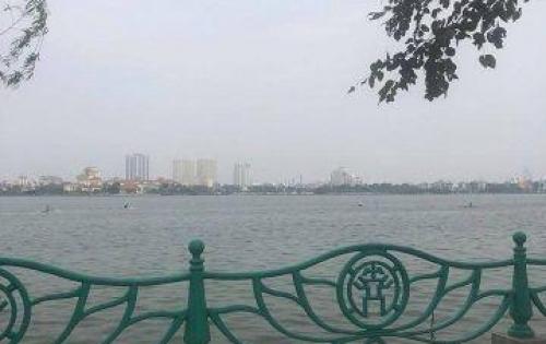 Bán gấp 102m2 mặt phố Nguyễn Đình Thi, Tây Hồ, MT 6.8m, view mặt hồ Tây, giá 47 tỷ