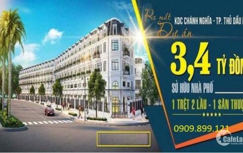 Chính thức nhận đặt giữ chỗ Nhà Phố Ngay Trung Tâm Thủ Dầu Một chỉ 50tr/ căn - giá chỉ từ 3,4 tỷ căn (có BIDV hỗ trợ lên tới 70%) - LH 0909.899.121