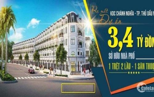 Mua đất tặng nhà, 100m2 đất nền + nhà hoàn thiện 3 tầng giá 3,4 tỷ ngay trung tâm Thủ Dầu Một - LH: 0931 20 20 76