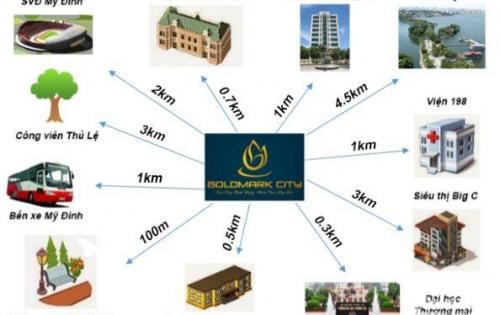 Cần bán trục căn 05 tòa Sapphire 1 tại Goldmark City 136 Hồ Tùng Mậu