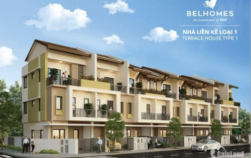 Chỉ còn duy nhất một căn liền kề 3 tầng giá dưới 1,9 tỷ tại khu đô thị Belhomes - VSIP