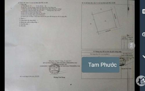 Bán Đất Gần Đường Hương Lộ 21, Xã Tam Phước, Biên Hòa, Đồng Nai Diện Tích 601m2, giá 1.79 tỷ
