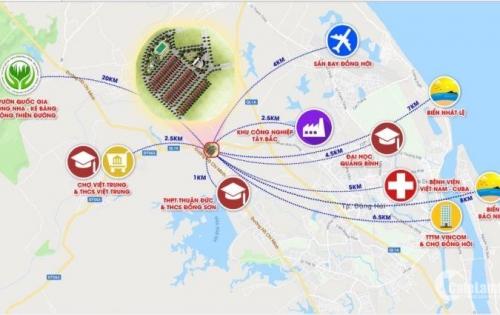 Đất nền Biệt Thự Vùng Ven TP Đồng Hới giá đầu tư 2tr9m2 (chưa chiết khấu )