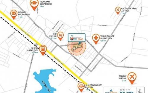 Nhanh tay sở hữu lô đất 107m2 duy nhất còn lại của dự án Eco Town Phú Bài. Lh: 0905.090.286