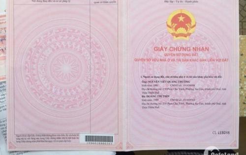 Bán đất: 3/10 Nguyễn Thanh Aí – Phường Phú Bài –Tp Huế
