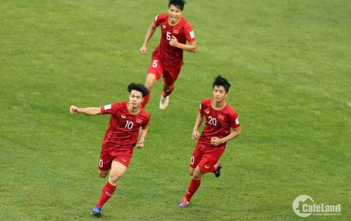 Mừng chiến thắng của tuyển Việt Nam, Tặng 02 chỉ vàng SJC khi mua đất nền dự án Eco Town.