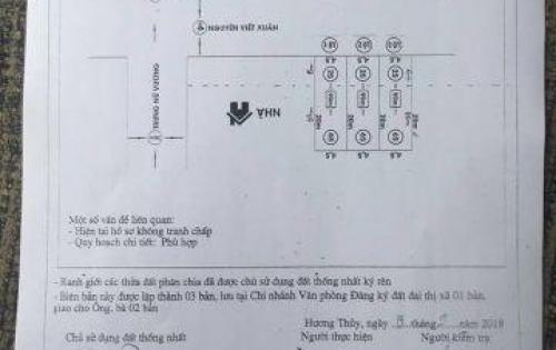 Bán đất 62 Nguyễn Viết Xuân – Phường Thủy Phương –Tp Huế