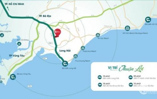 Đất nền Bà Rịa,mặt tiền 44A,gần biển Long Hải,giá 8,1tr/m2