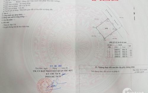 Cần bán lô đất đường Ngô Chí Quốc,Bình Chiểu, Thủ Đức 88m2 giá 27tr/m2