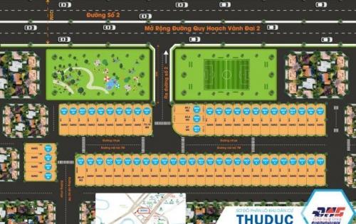 Mở bán đất nền đô thị mặt tiền giá siêu ưu đãi đường số 2-trường thọ-thủ đức, SHR, XDTD