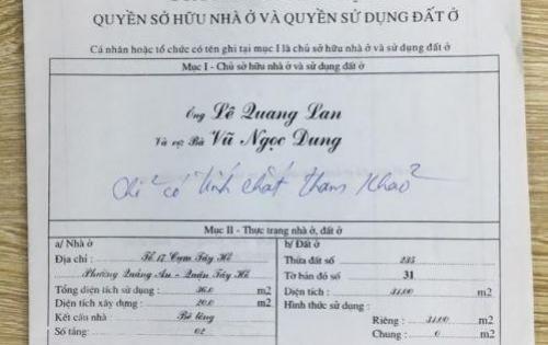 Cần bán 36m2 đất tại Quảng An Tây Hồ Hà Nội