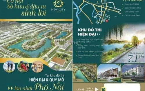 New City Phố Nối (V-Green City) chính thức ra mắt 25 lô shophouse view hồ CK tới 9%. LH 0966113361