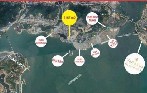 Bán gấp 1 lô góc khách sạn 2 mặt tiền duy nhất, SỔ ĐỎ, DT 2200m2, sát Sun World Hạ Long Complex