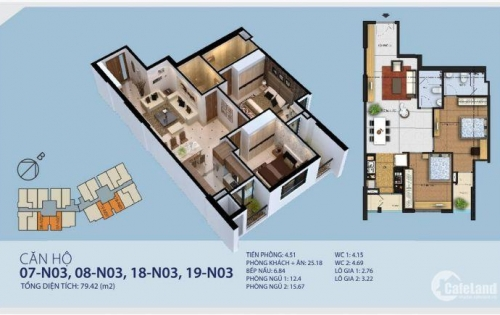 cho thuê căn hộ 2 phòng ngủ chung cư 87 lĩnh nam