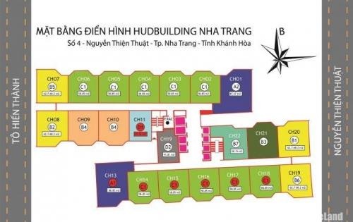 Cần bán căn 04 giá tốt nhất Chung cư Hudbuilding Nha Trang