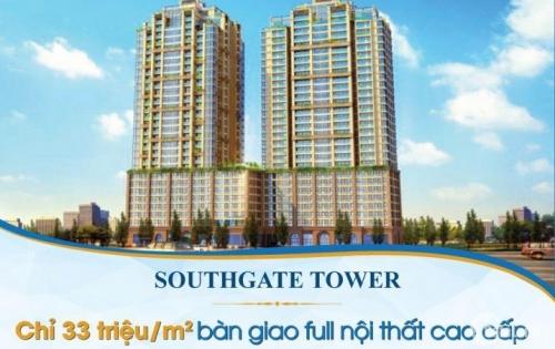 Căn hộ Southgate Tower 2-3 phòng ngủ mặt tiền đường Nguyễn Thị Thập