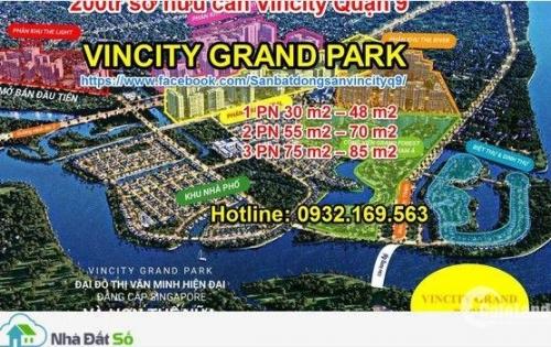 200 triệu sở hữu ngay căn hộ vincity quận 9. Hỗ trợ vay 70%, Lãi suất 0%