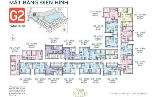 Tôi cần bán căn hộ số 02 và 18 tòa G2 Vinhomes Green Bay Mễ Trì giá rẻ nhất dự án.