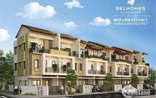 Nhà xinh, phố đẹp, giá yêu thương tại KDT chuẩn mực Singapore Belhomes- VSIP- Bắc Ninh