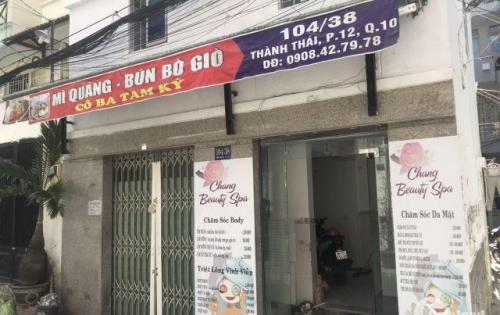 Cho thuê nhà HXH 104/38 Thành Thái, phường 12, tiện ở và kinh doanh
