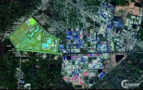 Đất nền lô góc 2 mặt tiền-DT 210m2-giá 12 triệu/m2-khu vực Đức Hòa