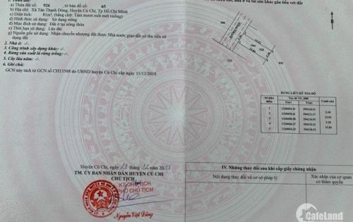 Đất mt chính 107,ngay chợ Tân Thạnh Đông,SHR,dt 81m2.