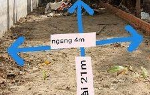 Đất bán 4 x 21m giá 2 tỷ 380 triệu đường Lê Thị Riêng, hẻm rộng 4m.