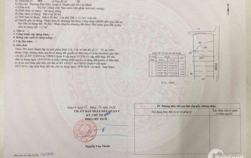 Cần tiền bán gấp lô đất mặt tiền Nguyễn Duy Trinh , Phú Hữu Q9
