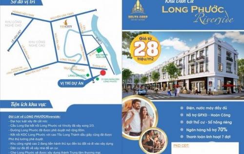 Đất nền mặt tiền đường 8 Long Phước Quận 9, giá chỉ 27tr/m2.