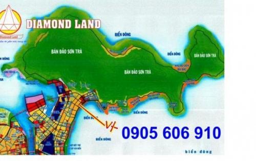 Bán đất đầu tuyến Sơn Trà 2MT đường Dương Thạc và Lê Văn Huân,Đà Nẵng 388 m2,cách biển 50m.0905.606.910