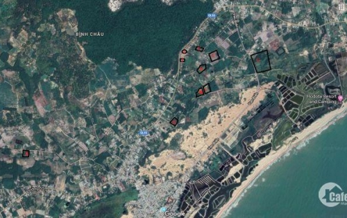 bán đất đườn ven biển bình châu giá rẻ nhất khu vực , 1tr/m2 diện tích 887m2 , xdtd
