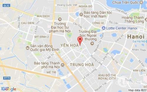 Bán nhà mặt phố Hoàng Ngân, DT 44m2, MT 4m, 2 tầng, giá 8.650 tỷ (LH: 0982489445).