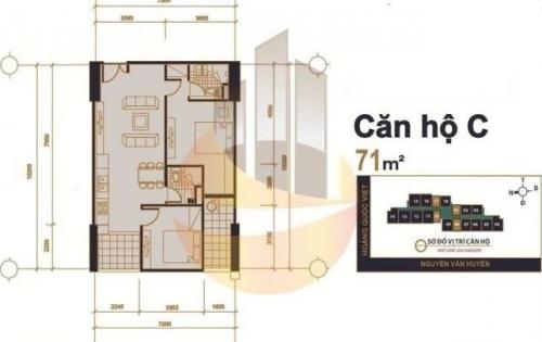Chính chủ bán căn 1401 chung cư 60 Hoàng Quốc Việt, DT: 70m2, Giá 30tr/m2, liên hệ: 0364644616