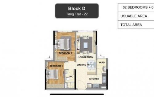 Căn hộ trệt 2PN khu căn hộ cao cấp dự án Celadon City ngay Aeon Tân Phú, giá 2,95tỷ, LH: 0932441188