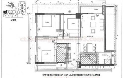 Căn góc 3 ngủ viện 103 HVQY full nội thất ảnh thật 106m Sđcc (có TL)