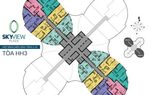 Tặng 50 triệu đồng khi sở hữu căn 03PN - Thiết kế vượt trội tại dự án Sky View Plaza 360 Giải Phóng