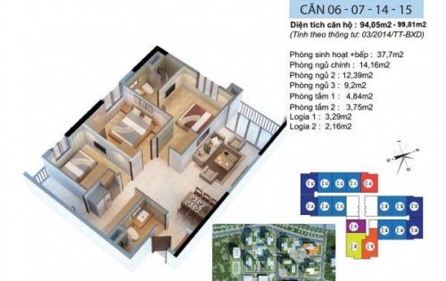 CC gửi bán căn hộ 3PN tại chung cư Goldmark city giá chỉ 2,85 tỷ.