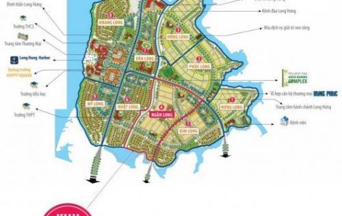Bán đất nền nhà phố nằm đối diện công viên, dự án Long Hưng, thành phố Biên Hòa, tỉnh Đồng Nai.
